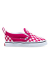 Vans Toddler Slip-On V Checkerboard Cerise/True White Side