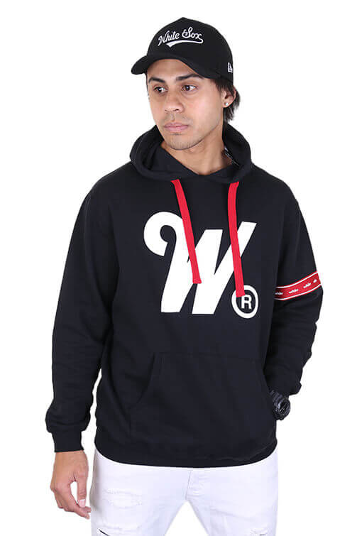 WNDRR Phillips Hood Sweat Black Front