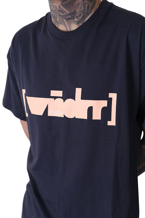 WNDRR Blocked Custom Fit Tee Black Detail
