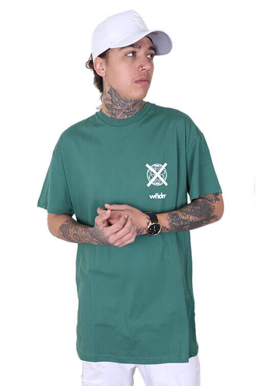 WNDRR Insurgent Custom Fit Tee Forest Green Front
