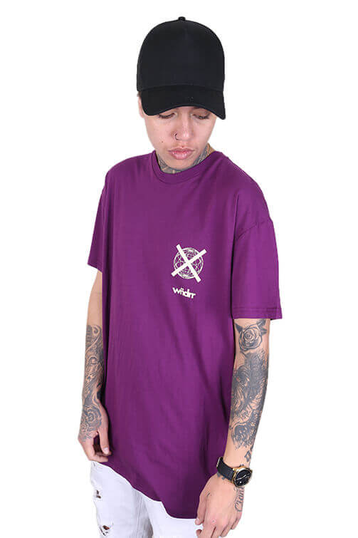 WNDRR Insurgent Custom Fit Tee Grape Angle