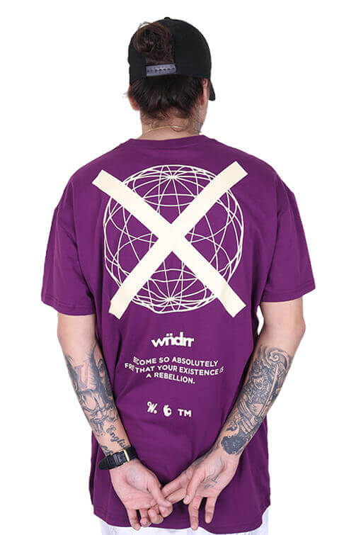 WNDRR Insurgent Custom Fit Tee Grape Back