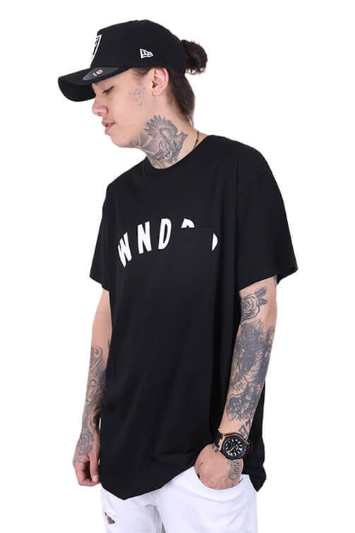 WNDRR Trauma Pocket Tee Black Angle