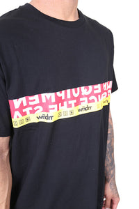 WNDRR Highline Custom Fit Tee Black Detail