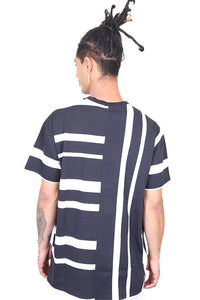 WNDRR Rift Stripe Tee Black/White Back