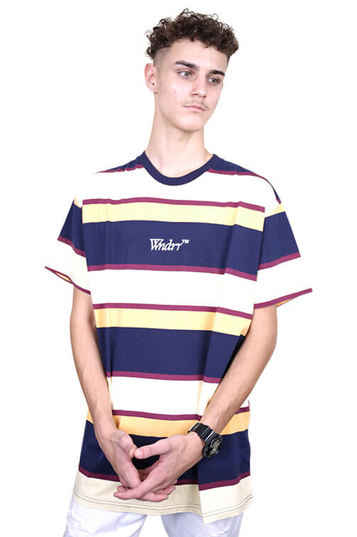 WNDRR Mark Stripe Custom Fit Tee Multi Front