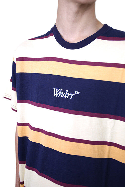 WNDRR Mark Stripe Custom Fit Tee Multi Detail