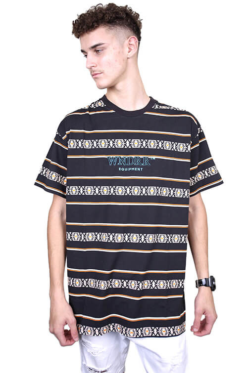 WNDRR Toci Stripe Custom Fit Tee Multi Front