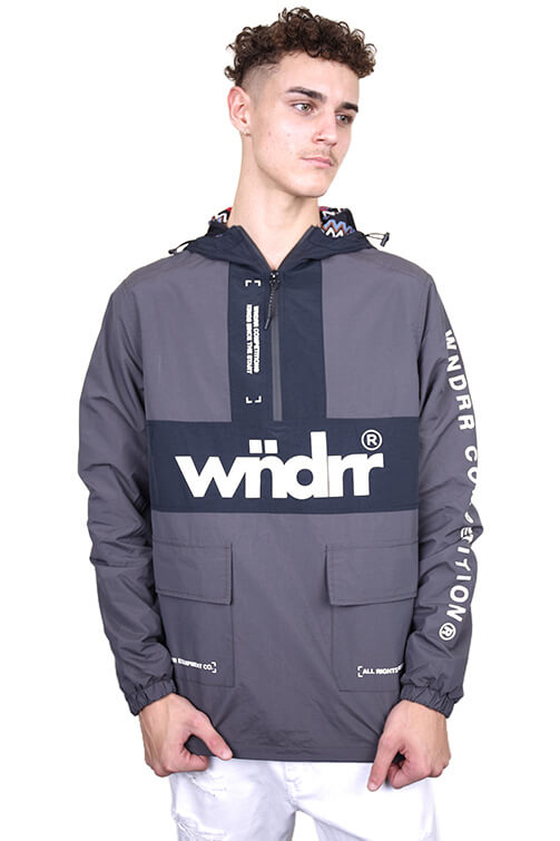 WNDRR Merc Spray Jacket Black Front