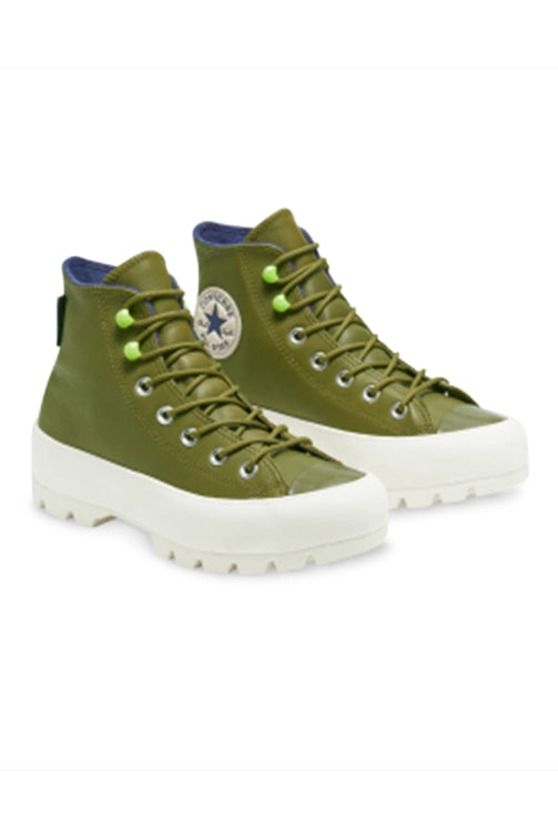 Converse Womens CT Lugged Winter Hi Dark Moss Angle