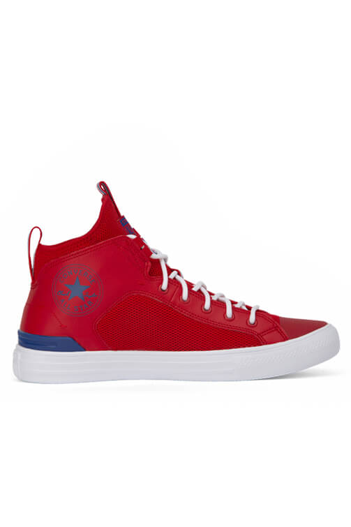 Converse CT Ultra Leather And Mesh Mid Red Side