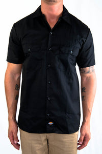 Dickies Button Up S/S Black