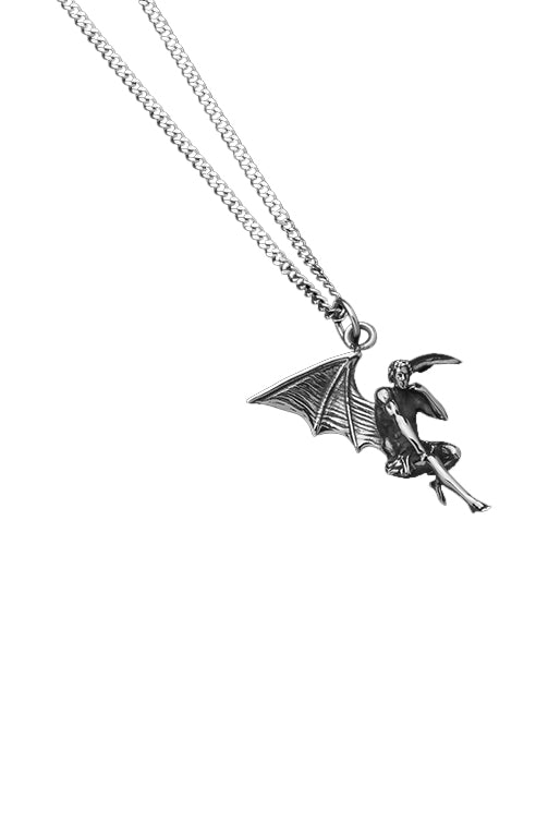 Statement Collective Fallen Angel Pendant Necklace with Cable Chain Angle