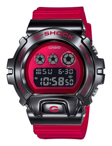 Casio Dig Metal Bezel Red Resin Band GM6900B-4D