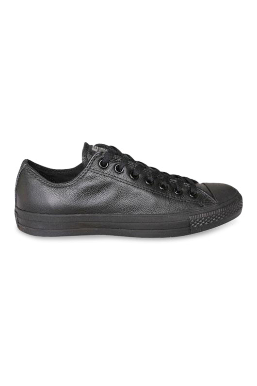 Converse Black Mono Low Leather Side