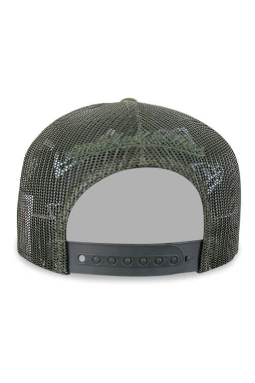 M&N Supersonics Melange Logo Classic Trucker Green Back