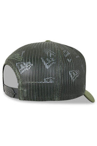 M&N Supersonics Melange Logo Classic Trucker Green Detail