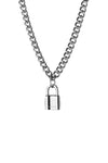 Statement Collective Mini Padlock Necklace Detail