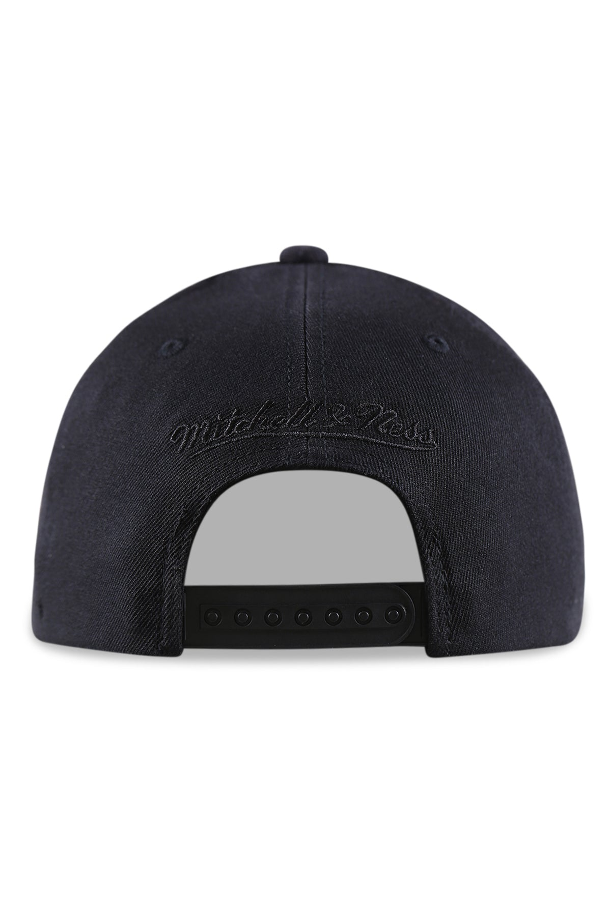 M&N Nets Team Colour Logo Pinch Panel Black Snapback Back