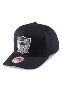 M&N Raiders Wide Receiver Pinch 110 Black Snapback Angle