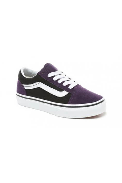Vans Youth Old Skool Suede Mysterioso Black Angle