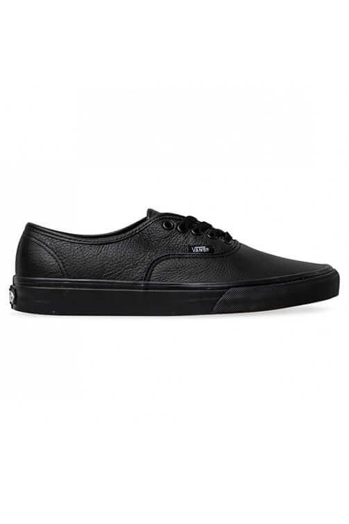 Vans Authentic Leather Black Side