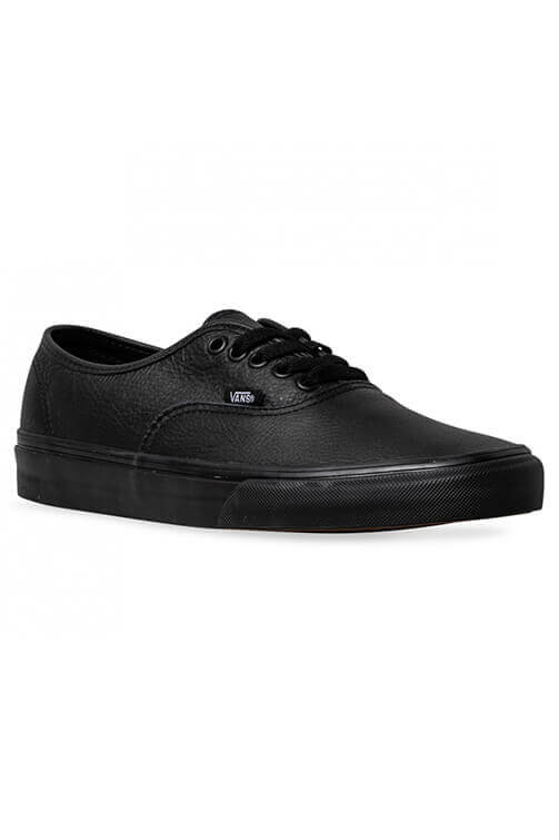 Vans Authentic Leather Black Angle