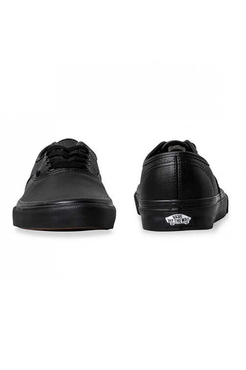 Vans Authentic Leather Black Front and Back