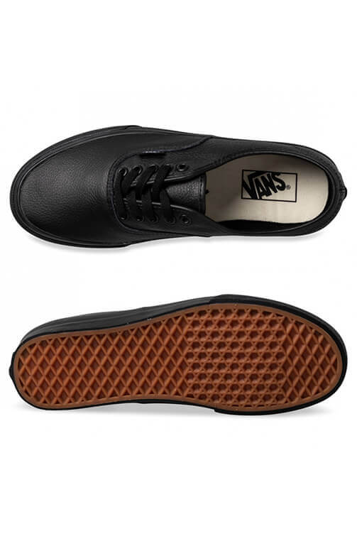 Vans Authentic Leather Black Top and Bottom