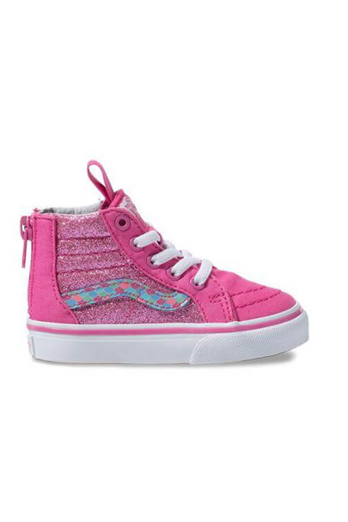 Vans Toddler SK8-Hi Zip Mermaid Scale Rose White Side