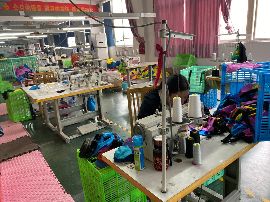 Checking production capacity of a hammock factory in China - Factory tours and auditing