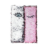 Color Changing Sequin Notebook Diary Pink and Silver