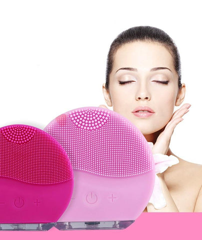 Ultrasonic Silicone Facial Cleansing Beauty Brush for Smooth Skin & Anti-Aging