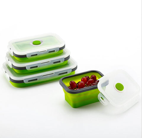 Space-Saving Silicone Folding Lunch Box