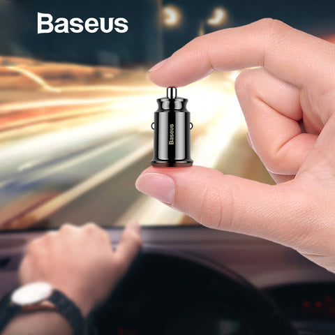 Baseus Grain Car Charger (Dual USB 5V 3.1A )