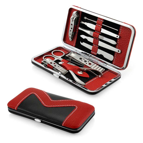 10PCS/Set Case Portable Size Stainless Steel Manicure Set