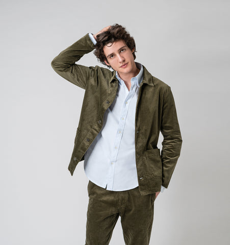 Corduroy Jacket - Olive Green