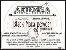 Load image into Gallery viewer, Organic Black Maca Powder