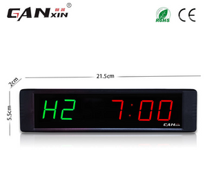 [Ganxin]1'' multifunction Digital countdown Clock 6 Digits Crossfit Timer LED gym Timer Stopwatch electronic desk clock - virtualdronestore.com
