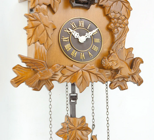 Retro Wooden Cuckoo Wall Clock Antique Style Bird Alarm Clock Watch Decoration Home Day Time Alarm Living Room - virtualdronestore.com