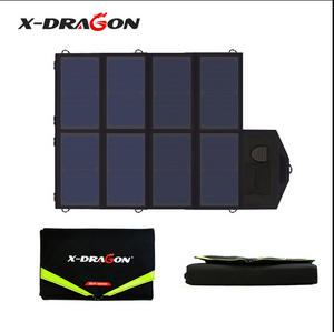 X-DRAGON 40W Foldable Portable Solar Charger for iPhone iPad Macbook Samsung HP Dell other Phone Tablet Laptop 12V Car Battery - virtualdronestore.com