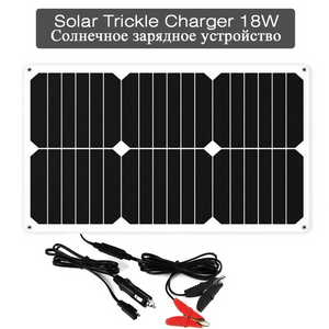 12V Solar Charger 18V Solar Panel Charger 18W Solar Vehicle Battery Charger Maintainer Trickle Charging for Vehicle Boat Car - virtualdronestore.com