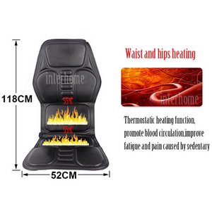 NEW Professional Electric Car Home Seat Massage Cushion Heating Massage Cervical Neck Back Hips Legs Household Chair Massager - virtualdronestore.com