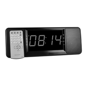 Multifunctional Digital Alarm Clock Radio with Wireless Bluetooth Stereo Speakers Support TF Card (Black) - virtualdronestore.com