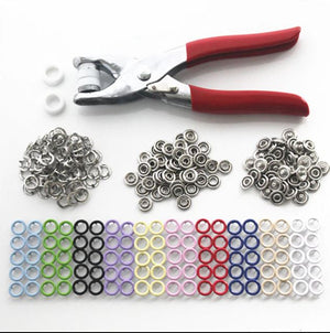 100 Sets 10 Mix Colors 9.5mm Metal Prong Snap Buttons Fasteners Studs Poppers - virtualdronestore.com