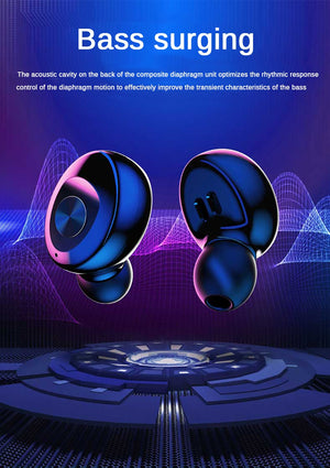 XG12 TWS Bluetooth 5.0 Earphone Stereo Wireless Earbus HIFI Sound Sport Earphones Handsfree Gaming Headset with Mic for Phone - virtualdronestore.com