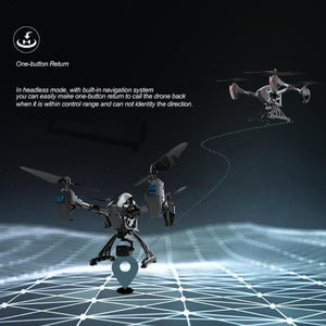 JD-11 Selfie Drone With Camera HD 2MP Long Flying 2.4G WiFi FPV Remote Control Quadcopter Aircraft 6-Axis Drone RC Helicopter - virtualdronestore.com