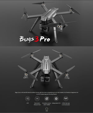 New MJX Bugs 3 Pro B3 PRO GPS RC Helicopter Professional RC Drone With WIFI 720P 1080P Camera Quadcopter Toys Gifts VS Bugs 5W - virtualdronestore.com