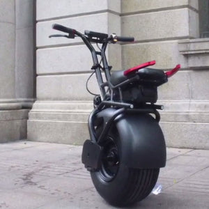 18 inch Big Single Wheel Scooter Self-Balancing One Wheel Adult Electric Scooter With Handle 1000W Powerful 60V Lithium Battery - virtualdronestore.com