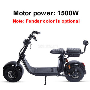 X7 PLUS 1500W/2000W Electric Scooter Vehicle Shock Absorption Battery Removable Double Person Electric Motorcycle EBike - virtualdronestore.com